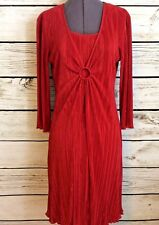 Connected Red Dress Size 6 Crinkle Knee Length Stretch Party Cocktail Wedding S