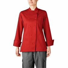 New Chefwear Women'S Organic Cotton Traditional Chef Coat Red