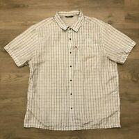 The North Face Mens Plaid Short Sleeve Hiking Shirt Size 2XL Embroidered Logo