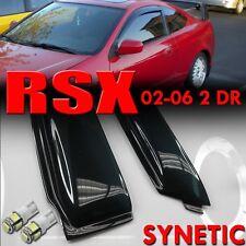 02-06 Smoke Side Window Visors Acura RSX DC5 & White T10/194/921 LED SMD bulbs