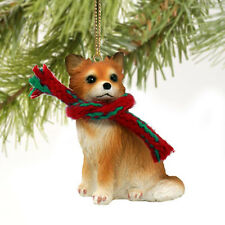 CHIHUAHUA Longhair Dog Tiny One Christmas Holiday ORNAMENT