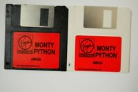 """Monty Python Virgin Mastertronic Amiga 3.5"""" Floppy Disk Vtg Computer Game"""