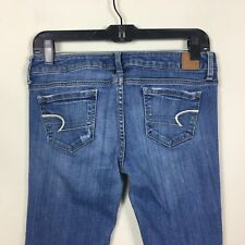 """AMERICAN EAGLE Women's Jeans Size 0 Inseam 32"""" Skinny Stretch Med Wash"""