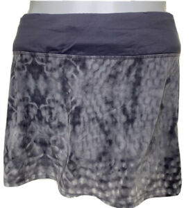 Lululemon Womens Size 4 Snowy Owl White Ghost Magnum Grey RARE Speed Skirt