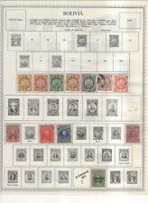 Bolivia On Minkus / Harris Album Pages 1868-1977