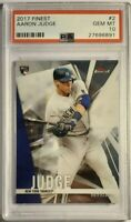 2017 Topps Finest #2 Aaron Judge Refractor RC PSA 10 Gem Mint Rookie NYY