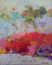 ORIGINAL OIL PAINTING MODERN ART ABSTRACT ARTIST I. SALENKO FINE ART lendscape
