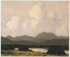 A Kerry Bog, Paul Henry print in 11 x 14 inch mount ready to frame SUPERB