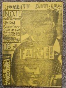REALITY ATTACK #1  Punk Fanzine 1981
