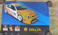 DICK JOHNSON MAX WILSON FORD SHELL HELIX RACING  POSTER SUPERCARS V8 MID 2000'S