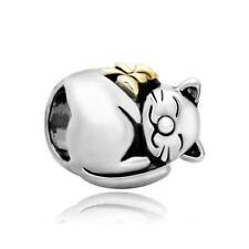 CharmSStory Cute Cat Animal Charm Beads For Bracelets