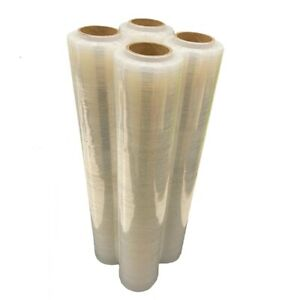 CLEAR PALLET SHRINK WRAP STRONG ROLL STRETCH CAST PARCEL PACKING CLING FILM NEW