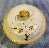 RARE vintage Mikasa White Petals Individual Cov'd Casserole