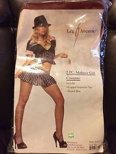 Halloween Leg Avenue Mobster Girl Gangster Costume New XS