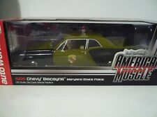 Auto world 1:18 AMM1030 - Chevrolet Chevy Biscayne Police Maryland 1966
