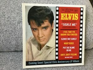 """Elvis Presley tickle me now deleted cd ftd follow that dream 7"""" gatefold cover"""
