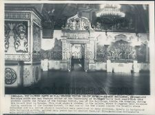 1953 Interior Palace of The Supreme Soviet Kremlin Moscow Russia Press Photo