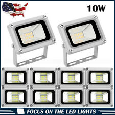 10 x 10W LED Flood Light Cool White Outdoor Security Garden Spot Lamp US Stock