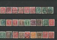 Wertvolles Lot Briefmarken Canada ab 1899 gestempelt 27 Werte