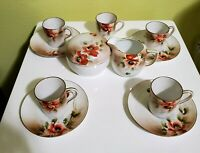 Nippon Rising Sun 11 PC Hand Painted Tea Set 1891, Gilded