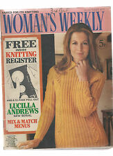 WOMAN'S WEEKLY 7 OCT 1972 KNITTING PATTERNS CROCHET PULL OUT - LUCILLA ANDREWS
