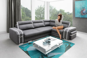 Corner Sofa Bed AVATAR Storage Footrest Pouffe Cabinet Pull out Bed 6 colours
