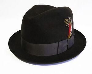 100% wool made USA women Laidback structured hat fitted wide brim fedora panama