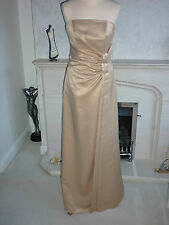 BHS Bridesmaid Dress Cassandra Gold Size 12/14