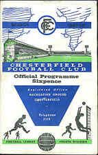 Football Programme - Chesterfield v Barnsley - Div 4 - 1968