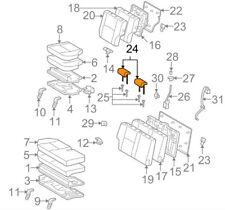 For Toyota Genuine Headrest Rear Outer 7194035641B0