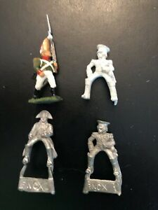 25mm Napoleonic Minifigs - 3 commanders and 1 Russian Grenadier