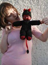 Monchhichi Teufel 80er Stofftier Kuscheltier schwarz rot TRUE VINTAGE 80s devil