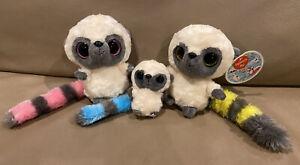 "AURORA YOOHOO Friends Lemur SOUND EARRINGS 5"" 3"" Plush"