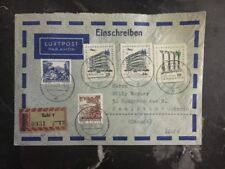 1961 Suhl East Germany DDR Airmail Cover To Hamilton Ontario Canada