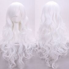Cheap 80CM Full Wig Cosplay Wigs For Women Long Straight Wavy Costume Dress 2egy