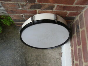 Very Large 43cm Hand Duff Drum Renovated tambourine style