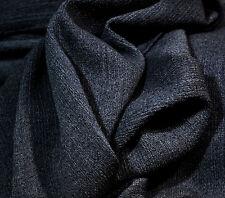 Crinkle Wolle, 94% Wolle, 6% El, italienischer Wollstoff, jeansblau, 97 cm breit