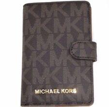 Michael Kors Jet Set Travel Brown & Acorn Signature Passport Case Wallet NWT $98
