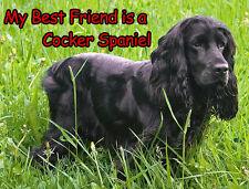 BLACK Cocker Spaniel Cane Tappetino mouse-Il mio migliore amico