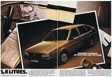 PUBLICITE ADVERTISING 044 1982 VOLKSWAGEN Passat Formule E (2 pages)