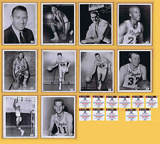 11 PHOTOS SIGNED 2ND YR 1961-62 L.A. LAKERS AUTOGRAPH KREBS BAYLOR WEST + COA