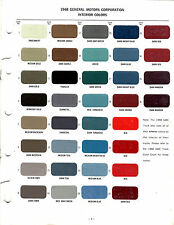 1968 CHEVROLET PONTIAC BUICK OLDSMOBILE CADILLAC TRUCK INTERIOR PAINT CHIPS MS 3