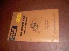 CATERPILLAR CAT D9 RIPPER NO. 9 TRACTOR PARTS CATALOG M
