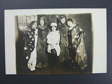 Women Dressed For New Years Party? Costumes Stars Real Photo Postcard Jan 1913