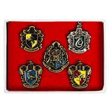 New! Harry Potter Hogwarts House Metal Pin Badge Set of 5pcs in the box