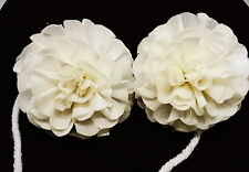10 New Carnation white Sola Wood Diffuser Flowers 5 cm Dia. with cotton rope