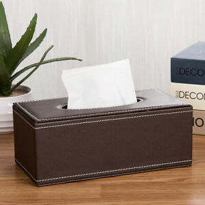 Household Faux Leather Tissue Box Storage Case Hotel Paper Dispenser Healthy