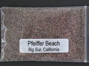 PFEIFFER BEACH, BIG SUR, CALIFORNIA ~ PURPLE/PINK BEACH SAND Sample