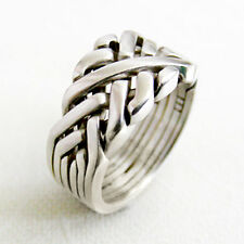 (SIXTH SENSE) Unique Puzzle Rings - Sterling Silver - Any Size