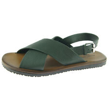 """Alex D """"Largo"""" Men's Slingback Leather Sandal, Made in Italy, Green"""